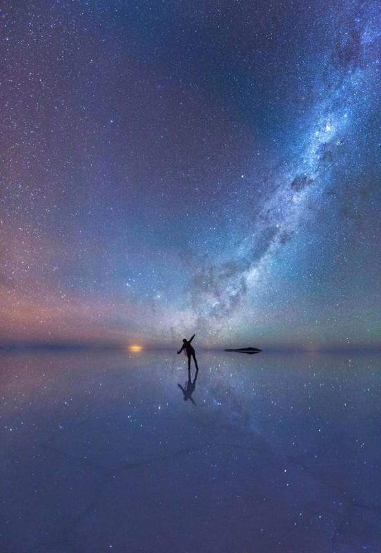 Ночь на солончаке Уюни | Лучшие фотографии в мире!