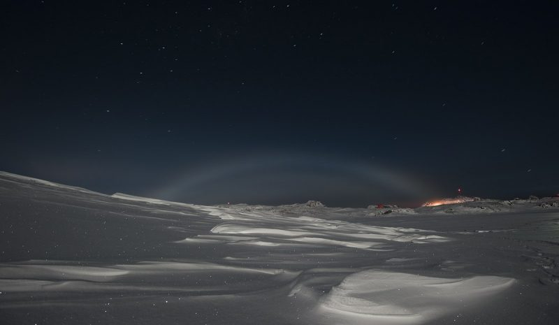 Лунная (ночная) радуга, фото