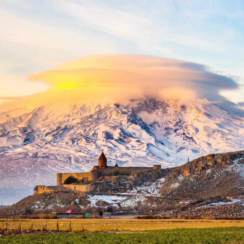 Гора Арарат, Армения, 2160*2160 пикселей