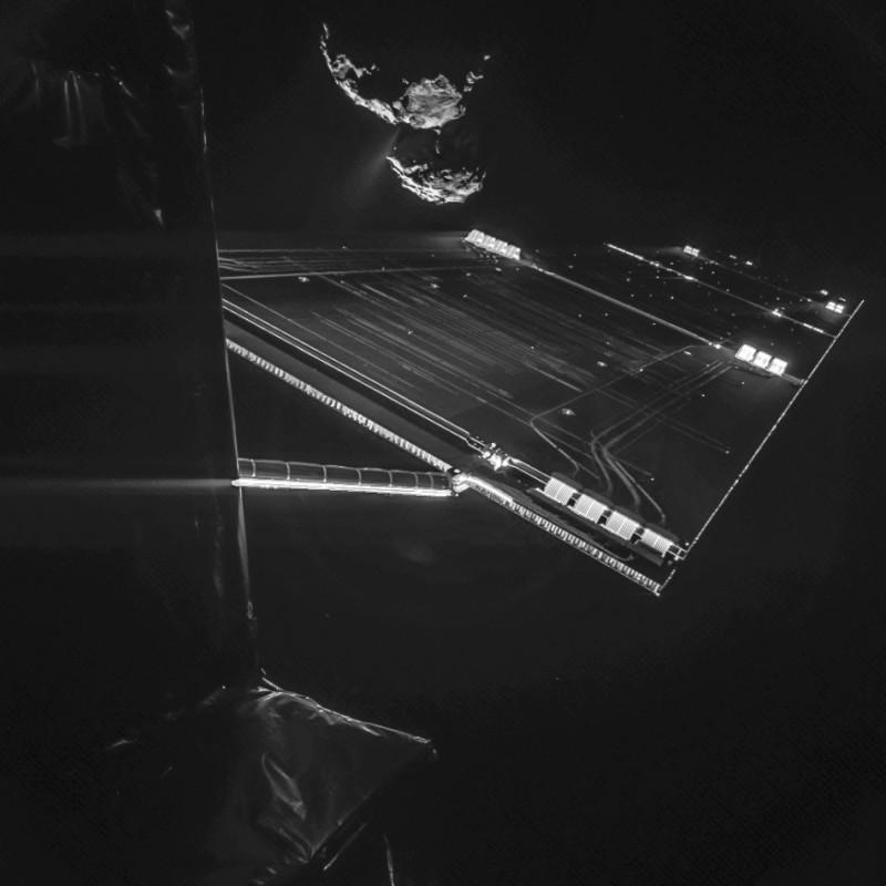 Космический аппарат Розетта сделал селфи с кометой 67P/Чурюмова — Герасименко в 472 миллионах километров от Земли | Лучшие фотографии в мире!