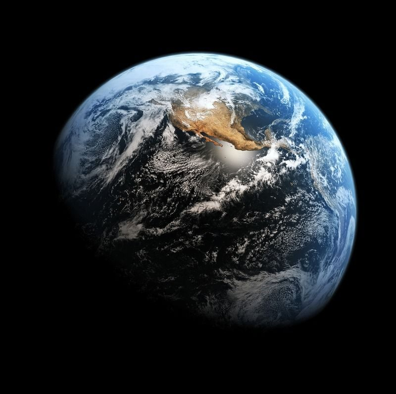 Планета Земля (высокое разрешение, 9248х9200 пикселей, 7 мегабайт)