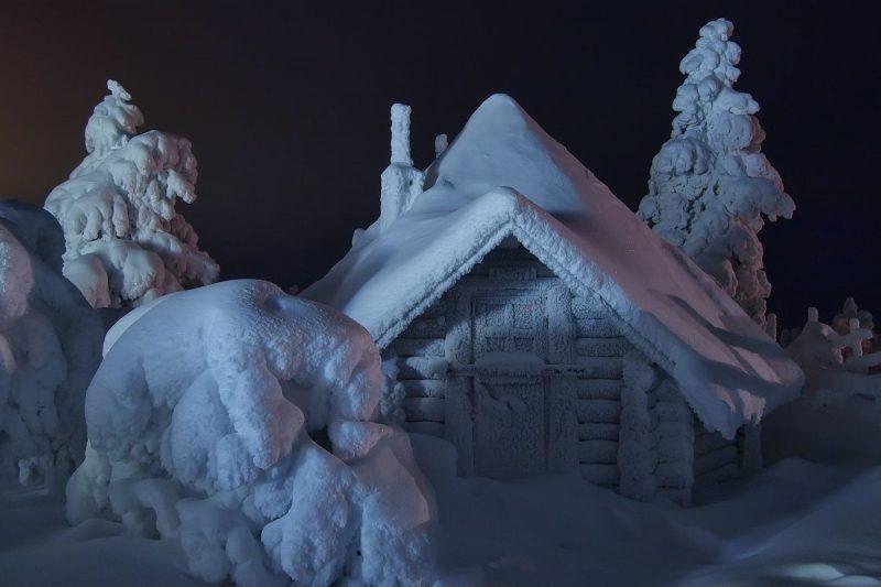 art sneg dom foto Maksima Evdokimova 509866 - Лучшие фото мира. Сборник лучших фото - Домик где-то на севере