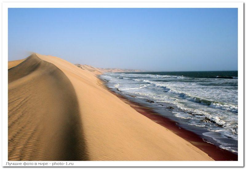 Namib Desierto Mar 9 - Лучшие фото мира. Сборник лучших фото - Место, где пустыня Намиб встречается с морем, 5 фото
