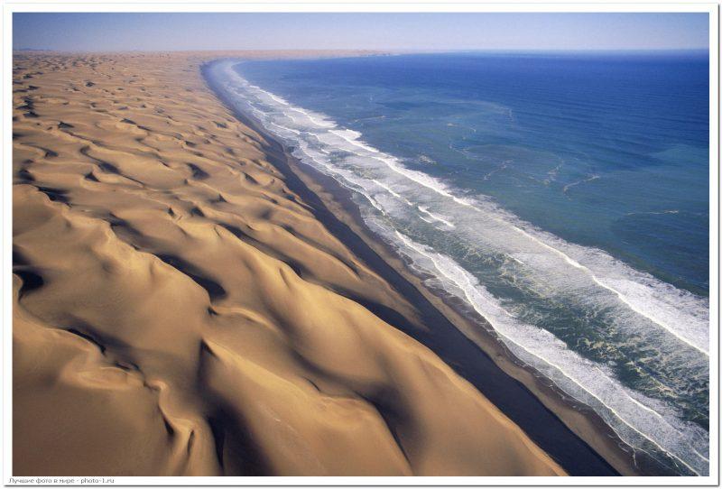 namib desert coastline - Лучшие фото мира. Сборник лучших фото - Место, где пустыня Намиб встречается с морем, 5 фото