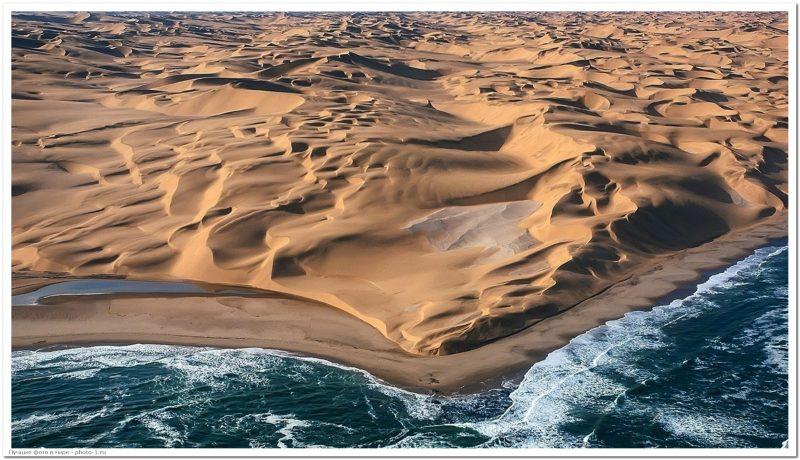 white desert namibia africa angola beige beach 2400x1350 wallpaper - Лучшие фотографии в мире - Место, где пустыня Намиб встречается с морем, 5 фото