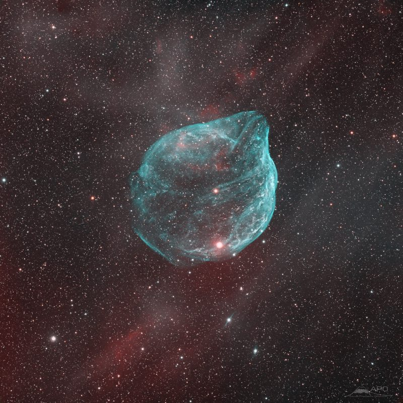 0060 sh2 308 f - Лучшие фото мира. Сборник лучших фото - Звезда EZ в Большой Медведице надула вокруг себя огромный пузырь, 4060*4067 пикселей, 9.6 мегабайт