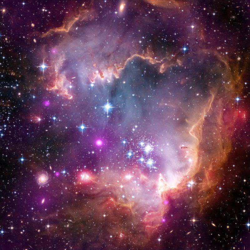 sig13 002 - Лучшие фото мира. Сборник лучших фото - Юная эмиссионная туманность NGC 602 с рассеянным скоплением в Малом Магеллановом Облаке, 3600*3600 пикселей