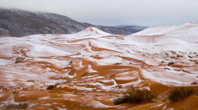 2 67 - Лучшие фото мира. Сборник лучших фото - В пустыне Сахара впервые с 1979 года выпал снег
