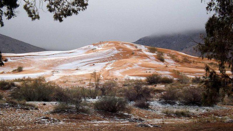 5 245 - Лучшие фото мира. Сборник лучших фото - В пустыне Сахара впервые с 1979 года выпал снег